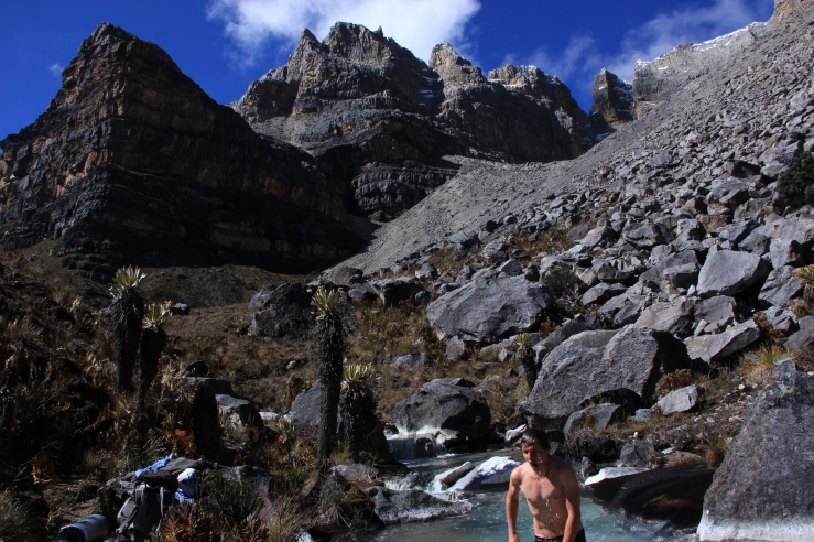 Turns out freshly melted glacial streams are actually cold. Who knew? Robbie took this one.