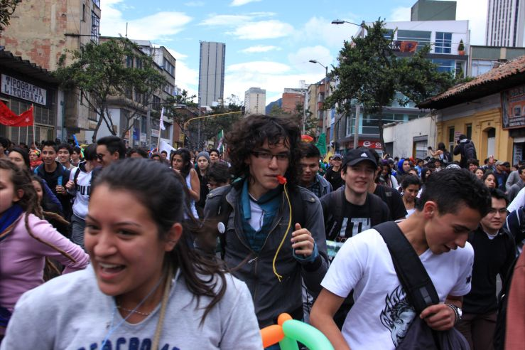Student protests against President Manuel Santos' attempts to privatise the higher education system have been common in recent months.