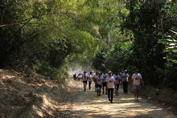 The final stretches, Caminata San Sebastian.