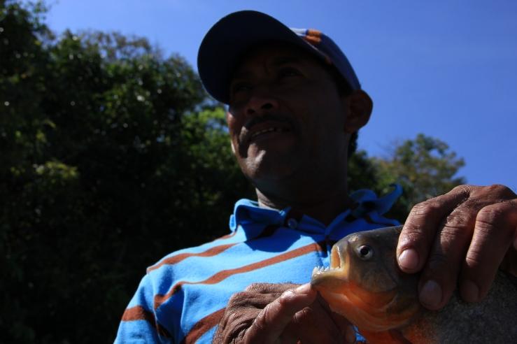 Ramón and piranha, Los Llanos.