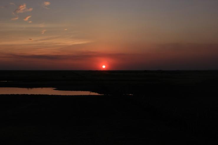 Sunset on Los Llanos.